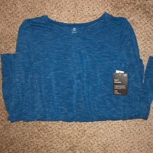 Gap fit Breathe long sleeve split back shirt